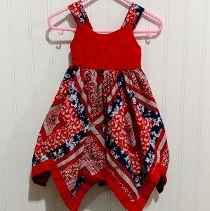 Blueberi Boulevard Bandana Quilt Patriotic Dress